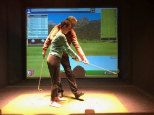 lesson with tony gray at halfway house indoor golf
