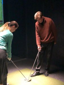 golf lesson with tony gray at halfway house indoor golf