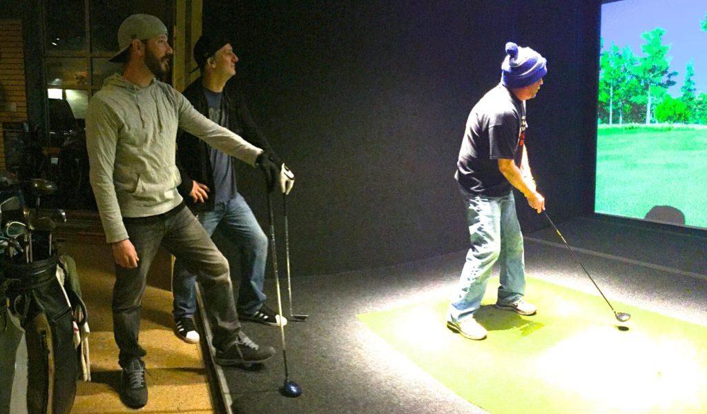 winter indoor golf at halfway house indoor golf