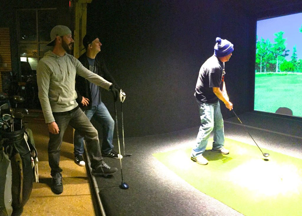 winter indoor golf at halfway house indoor golf