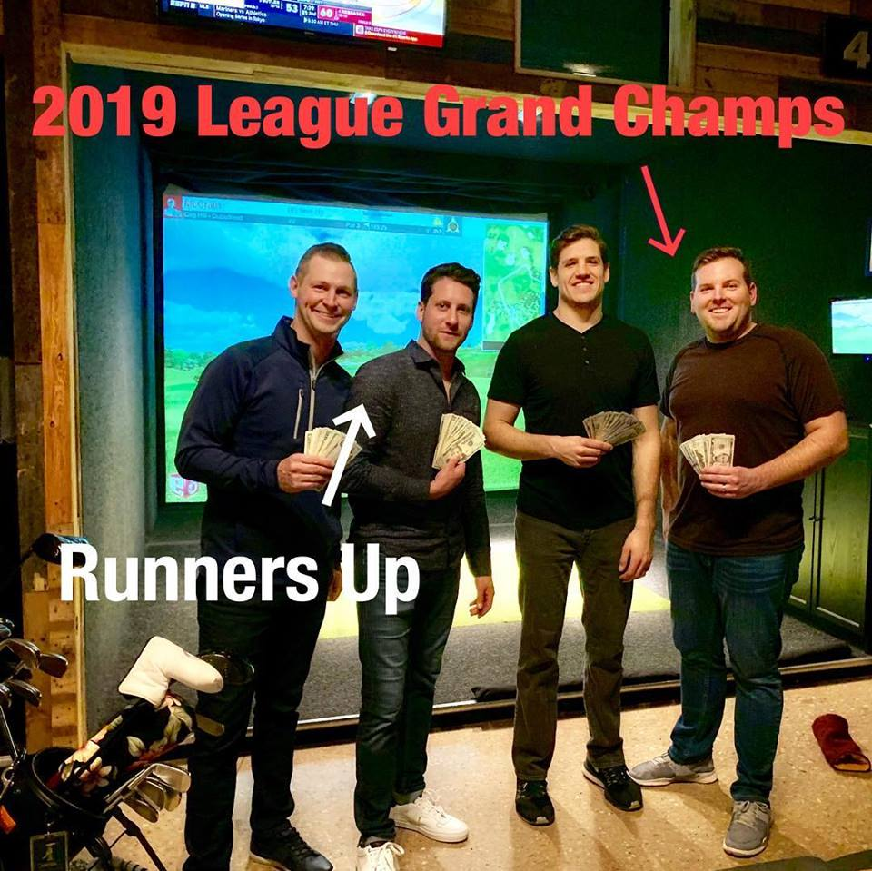 winter league champions at halfway house indoor golf simulator lounge