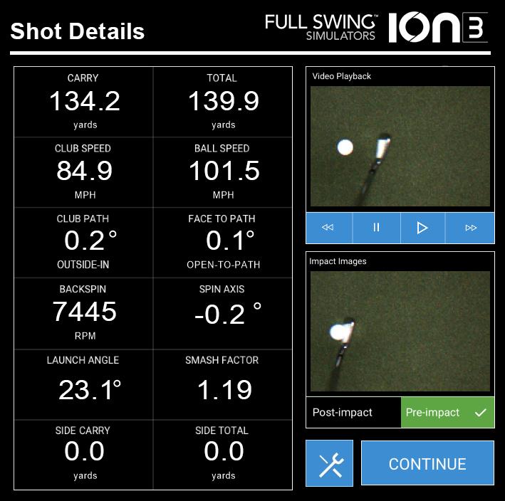 fullswing ion 3 halfway house indoor golf