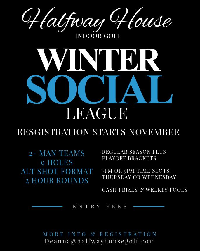 winter social league halfway house indoor golf